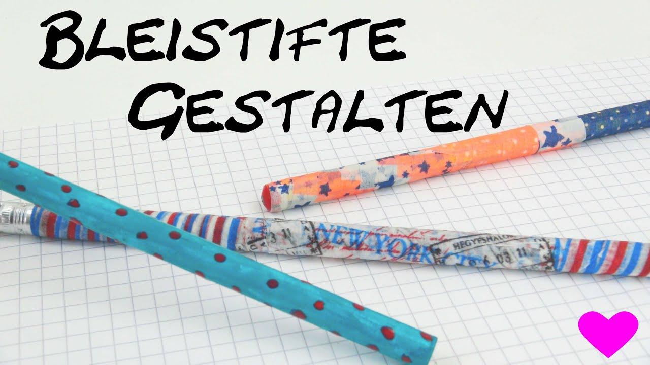 Bleistift bemalen bekleben diy gestalten mit washi tape - Washi tape ideen ...