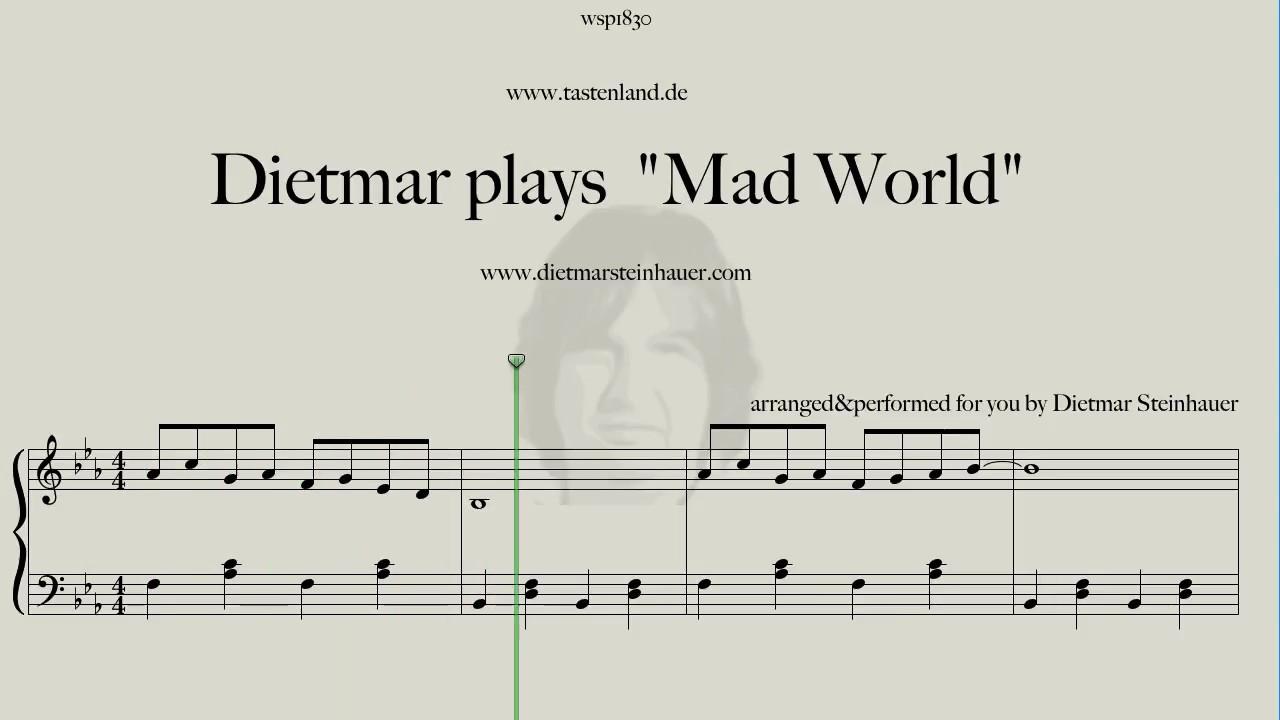 Dietmar plays mad world youtube for Dietmar steinhauer