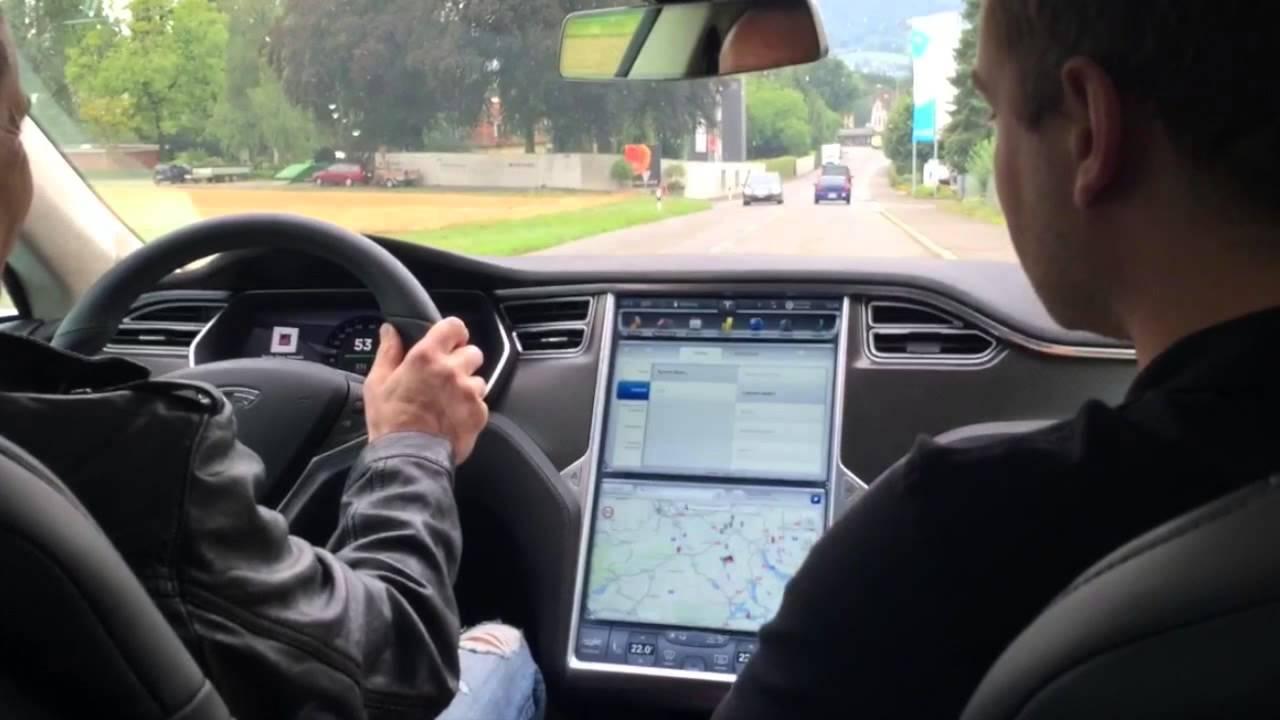 100 Elektroauto Tesla Model S P85d P90d Probefahrt Schweiz Youtube