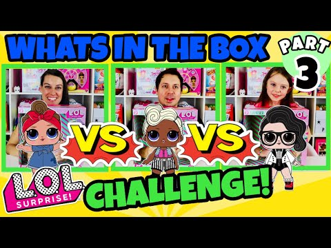 WHAT'S IN THE BOX CHALLENGE PART 3!! LOL SURPRISE DOLLS Series 3 Confetti Pop! Wave 1 & 2