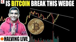 Is BITCOIN break this wedge, SUNDAY LIVE - CRYPTOVEL