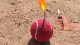 Make A Diwali Sutli Form Tenis Ball    Tenis Ball Experiment    Experiment King