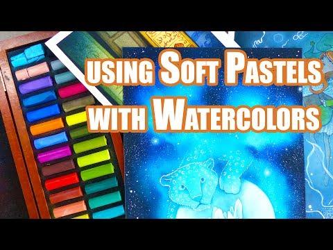 Combining Watercolors and Soft Pastels - Anita Gadzinska Art