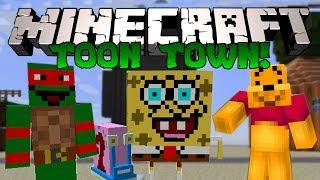 Minecraft ГОРОД МУЛЬТЯШЕК Спанч Боб, Гэри, Черепашки Ниндзя и тд Обзор модов