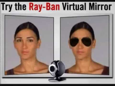 So magical Virtual Mirror , Ray-Ban virtual try on, cool!- YouTube ... 2ecaacf48d19