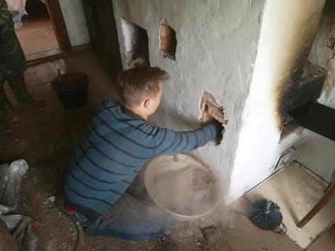 Как прочистить печь от сажи и золы своими руками