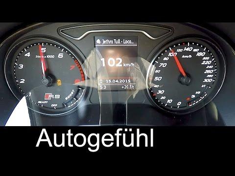 2016 Audi RS3 Sportback acceleration 0-100 km/h 0-60 mph quattro - Autogefühl