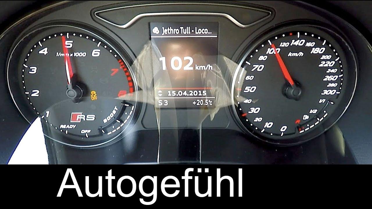 2016 Audi RS3 Sportback acceleration 0 100 km h 0 60 mph quattro