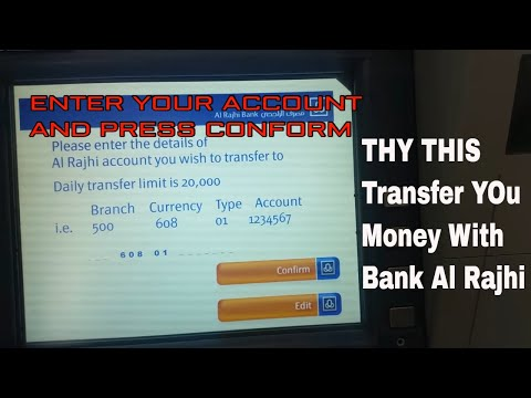 How to Transfer Your Money Within Bank Al Rajhi   YouTube