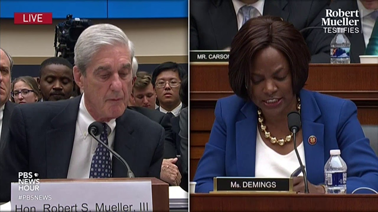 Image result for images of Val Demings on July 24, 2019 at House Intel Mueller's testimony