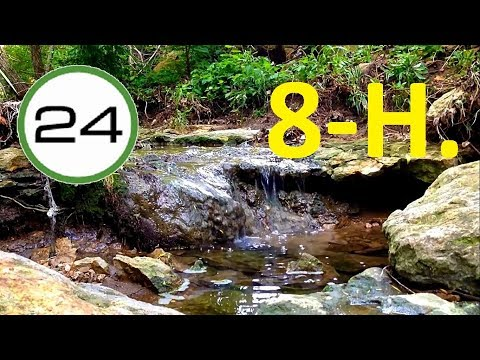 Sound of WATER to SLEEP 8 HOURS 💧💦 Water Falling Running and Flowing Soft WITHOUT Music