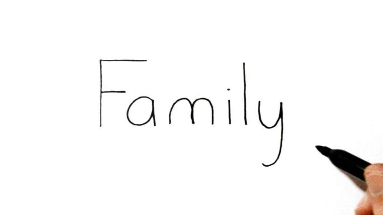 Image result for family word drawing