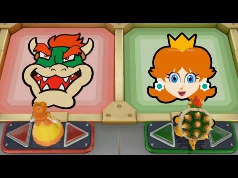 Super Mario Party - Team Daisy & Peach vs Team Bowser & Rosalina  Cartoons Mee