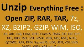 Best Free Unzip Program   How to Open zip, rar Files for Free   How to Make 7 Zip as Default Program screenshot 5