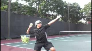 tennis serve lesson