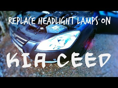 How to replace headlight lamp KIA Ceed