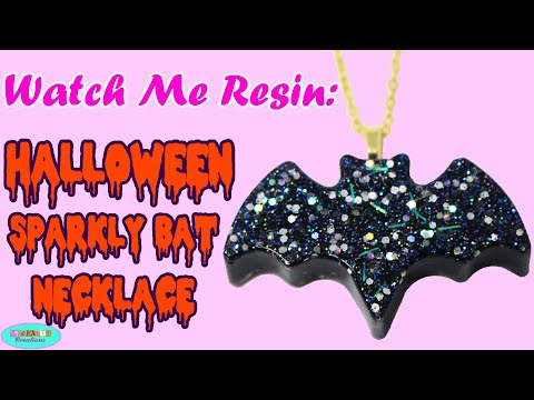 Watch Me Resin: DIY How To Make Spooky Halloween Bat Resin Charm Necklace with Epoxy Art Resin