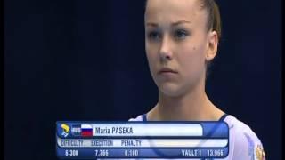 Maria Paseka - 2013 European Championships - Both Vaults (EF)