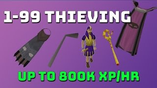 1-99 Thieving Guide! [Runescape 3] Up to 800k xp/hr