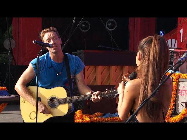 Ariana Grande Coldplay - Just a Little Bit of Your Heart