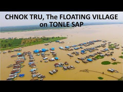 Chnok Tru Floating Village at Baribo District in Kampong Chhnang Province