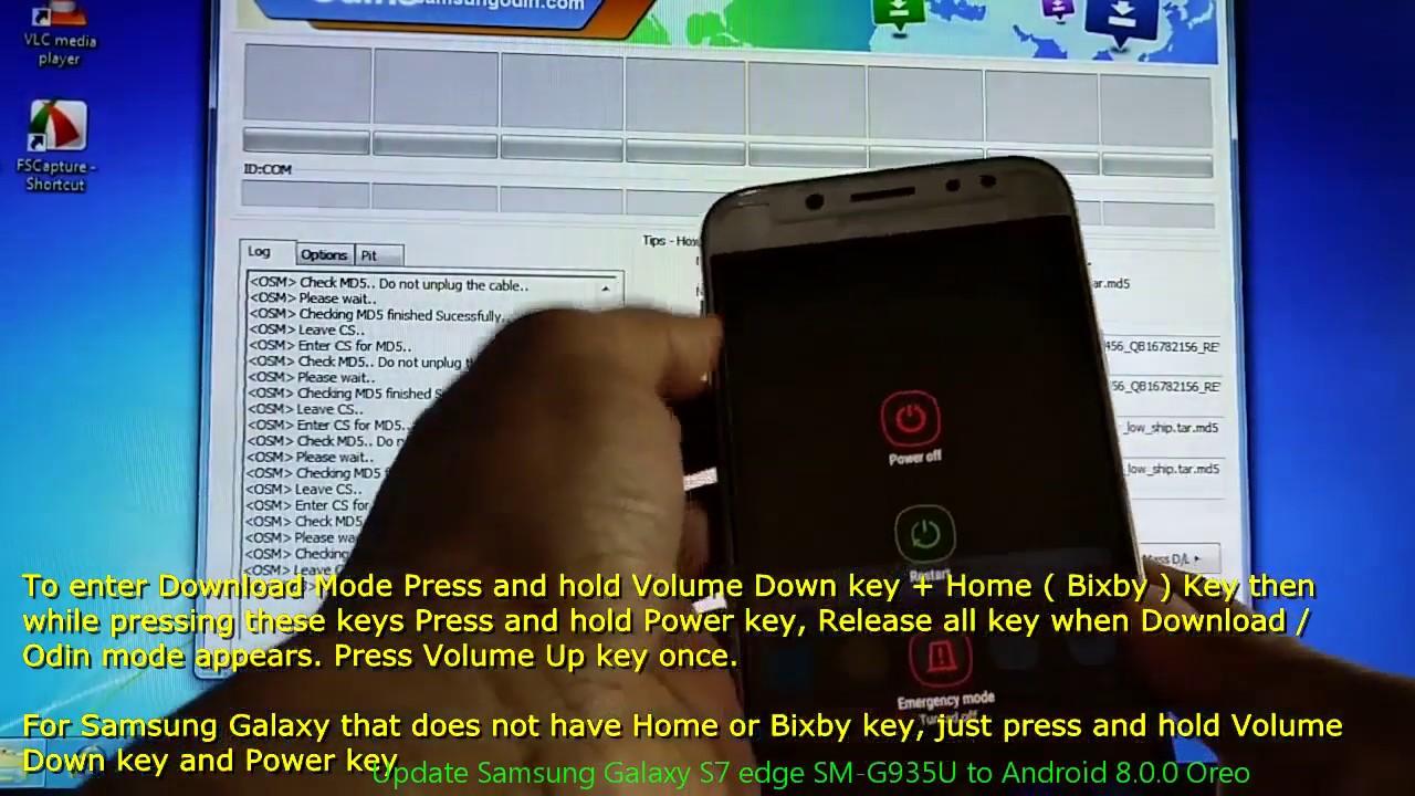 Update Samsung Galaxy S7 edge SM-G935U to Android 8 0 0 Oreo
