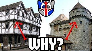 Waarom hebben middeleeuwse gebouwen overhangende verdiepingen?