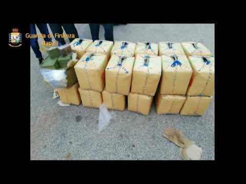 Napoli, la Guardia di Finanza sequestra 8 mila kg di hashih