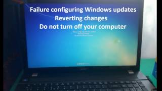 failure configuring windows updates reverting changes do not turn off youer computer problm solved