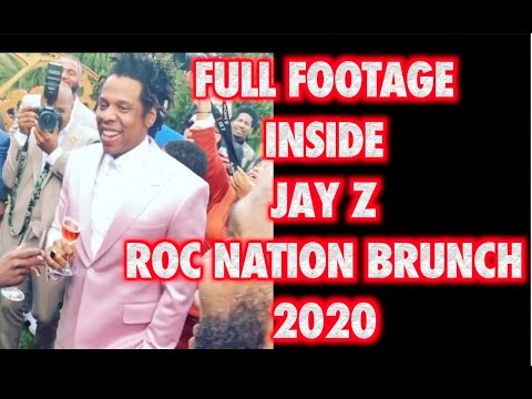 FULL JAY Z ROC NATION BRUNCH 2020 FOOTAGE