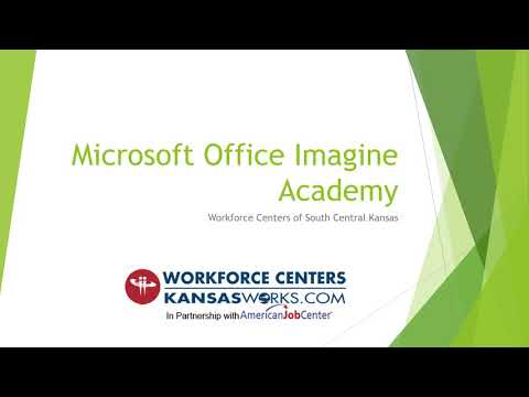 Microsoft Office Imagine Academy Certification Overview