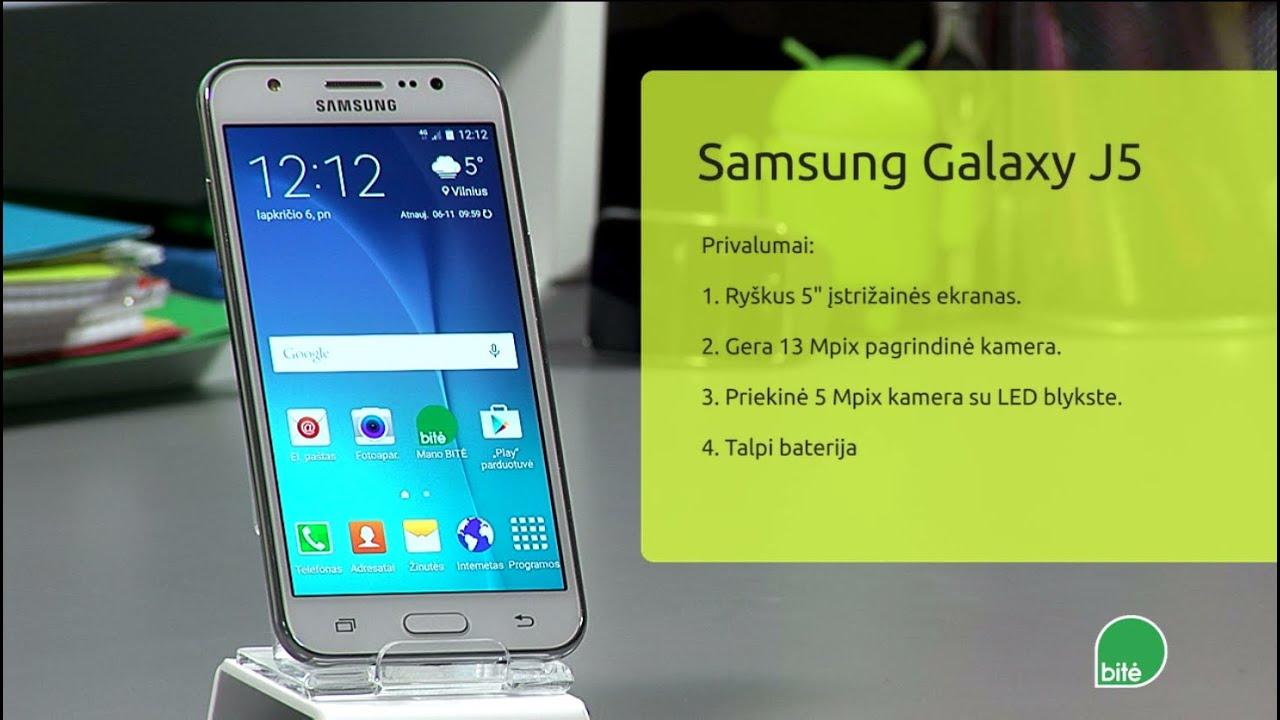 Samsung galaxy j5 naudojimo instrukcija