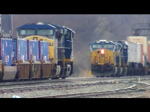 2 Freight Trains Meet Head On