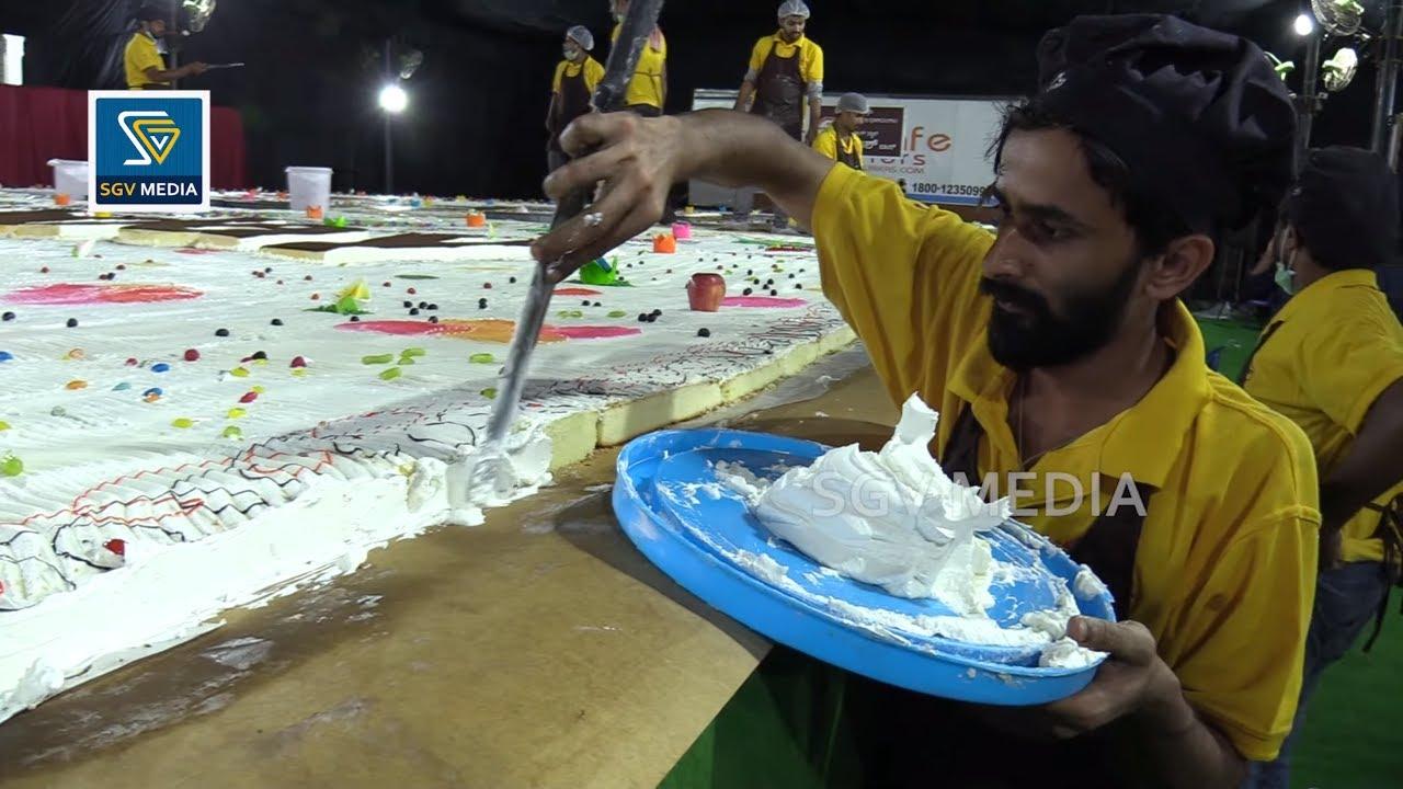 YASH BIRTHDAY : Making 5700 KG Cake of Rocking Star Yash Birthday Video