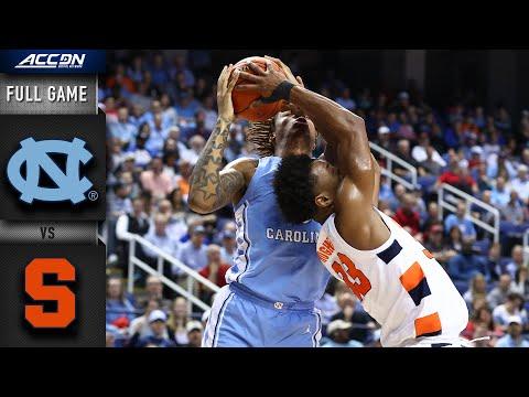 North Carolina Vs. Syracuse Full Game   2019-20 ACC Men's Basketball