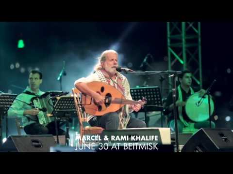Marcel and Rami Khalife at the Summer Misk Festival!