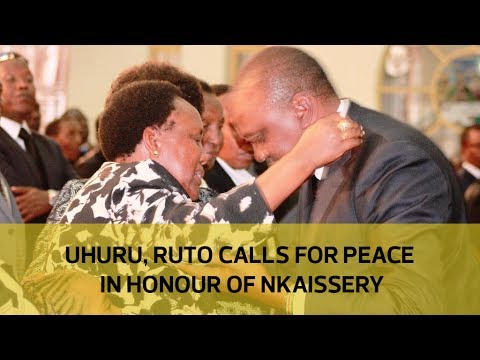 Uhuru, Ruto calls for peace in honour of Nkaissery