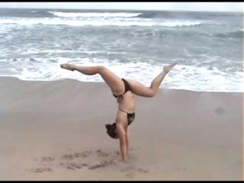 Handstands, back flips - Cassie Drew, Costa Rica beach