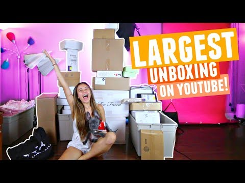 LARGEST MAKEUP UNBOXING On YouTube!