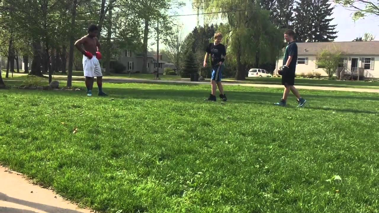 backyard boxing brawl youtube