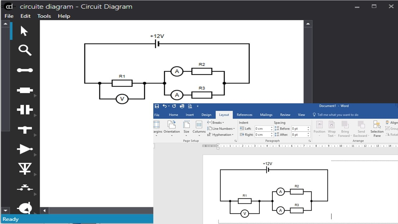 how to draw circuit diagram in physic [ 1280 x 720 Pixel ]