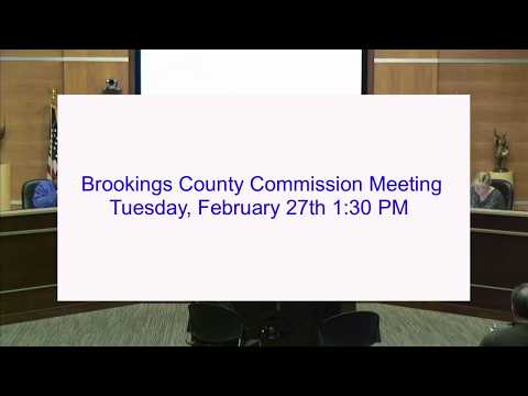 Brookings County Commission 2018-02-27