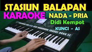Download STASIUN BALAPAN - Didi Kempot | KARAOKE NADA COWOK/PRIA
