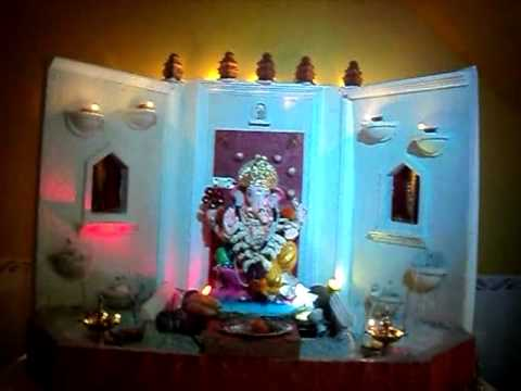 Ganpati Decoration At My Place 2012 Youtube