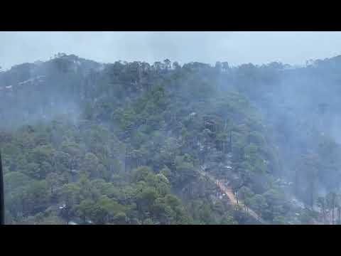 Continúa Combate de Incendio Forestal en Valle de Bravo