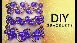 DIY: Top 3 EASY beaded bracelets / Бисероплетение для начинающих (детей) простые браслеты