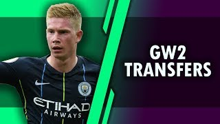 GAMEWEEK 2 - Kevin De Bruyne Injured and transfer options  - #FPL FANTASY PREMIER LEAGUE 2018/2019!