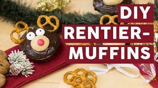 Weihnachtliche Rentier-Cupcakes selber machen | REZEPTE