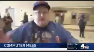 Mets fan rages because he can't get to the game