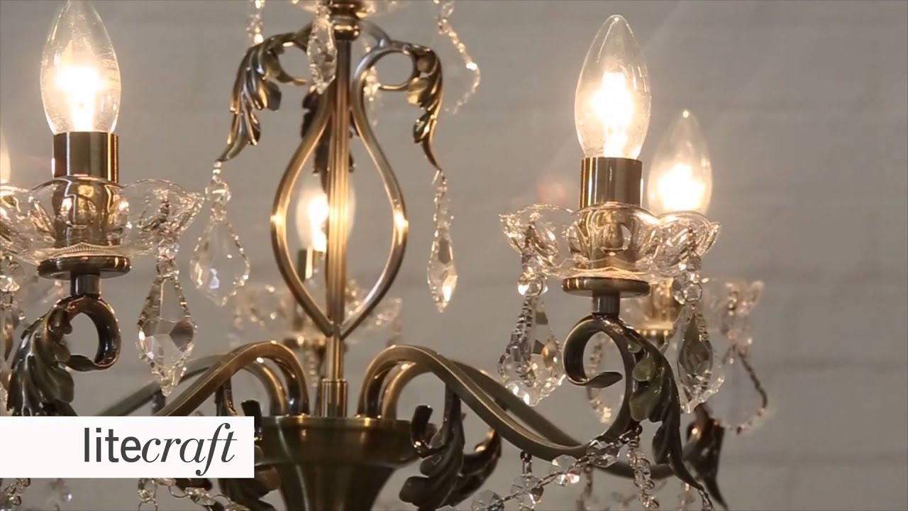 Romeo 5 Light Antique Brass Chandelier Litecraft Lighting Your Home You